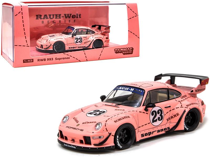 Porsche RWB 993 #23 Sopranos Pink RAUH-Welt BEGRIFF 1/43 Diecast Model Car Tarmac Works T43-014-SO