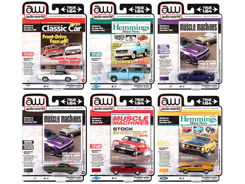 Autoworld Premium 2020 Set A of 6 pieces Release 4 1/64 Diecast Model Cars Autoworld 64272 A