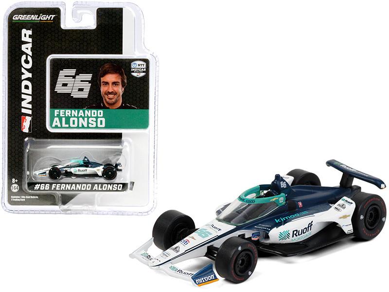 Dallara IndyCar #66 Fernando Alonso Ruoff Mortgage Arrow McLaren SP NTT IndyCar Series 2020 1/64 Diecast Model Car Greenlight 10882