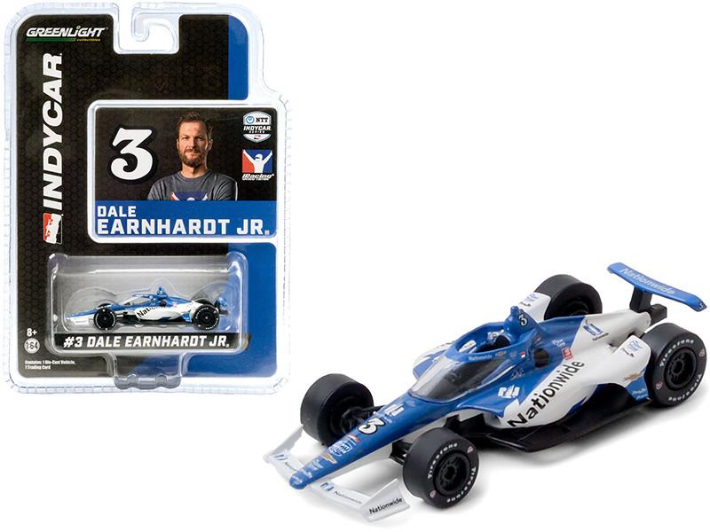 Dallara IndyCar #3 Dale Earnhardt Jr Nationwide JR Motorsports NTT IndyCar Series iRacing 2020 1/64 Diecast Model Car Greenlight 10883