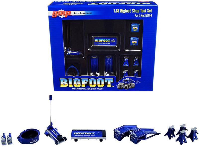 Shop Tool Set of 6 pieces Bigfoot #1 The Original Monster Truck 1/18 Diecast Replica GMP 18944