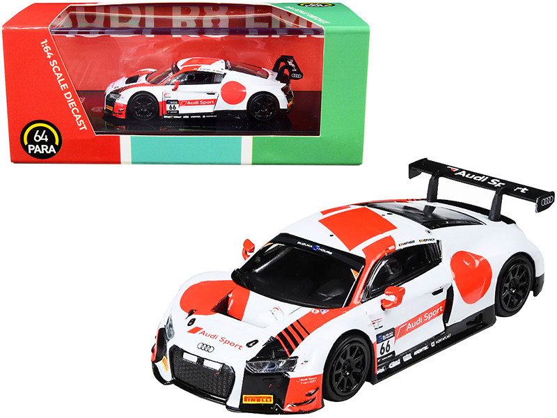 Audi R8 LMS #66 WRT 2018 Suzuka 10 Hours 1/64 Diecast Model Car Paragon PA-55262