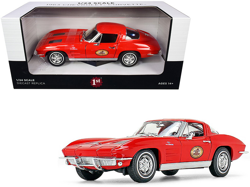 1963 Chevrolet Corvette Red The Busted Knuckle Garage 1/24 Diecast Model Car First Gear 49-0426B7
