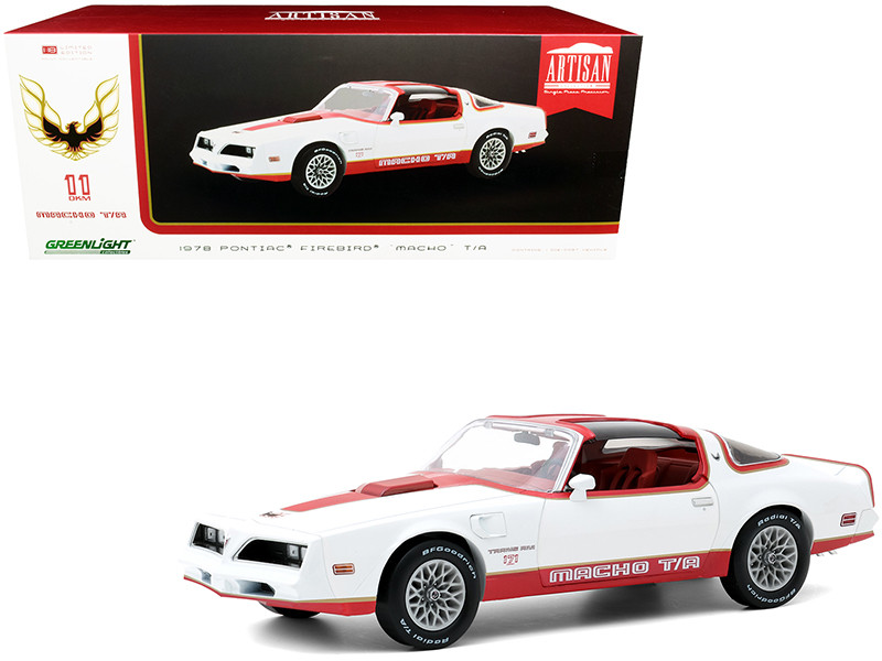1978 Pontiac Firebird Macho T/A Trans Am #171 of 204 Mecham Design White Red Red Interior 1/18 Diecast Model Car Greenlight 19081