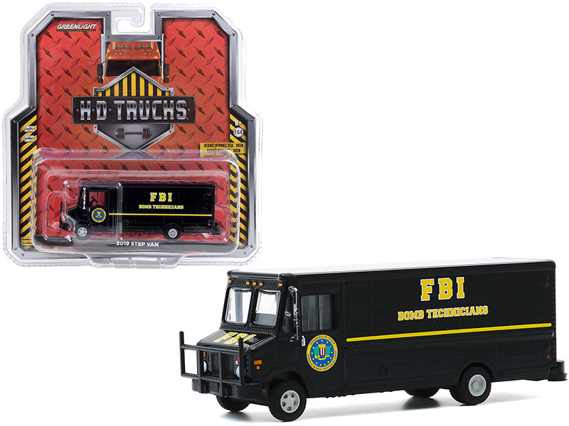 2019 FBI Step Van FBI Bomb Technicians Black H.D. Trucks Series 19 1/64 Diecast Model Greenlight 33190 C
