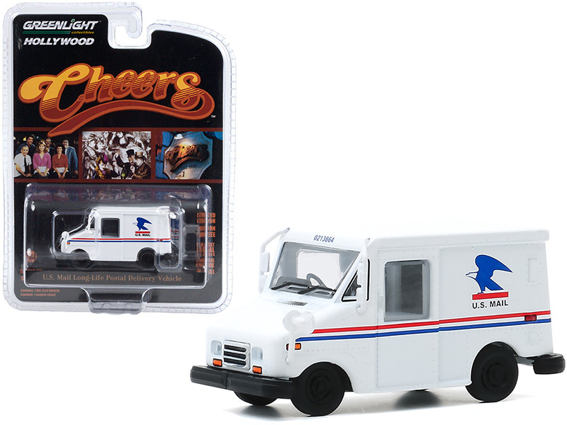 U.S. Mail Long-Life Postal Delivery Vehicle LLV White Cliff Clavin's Cheers 1982 1993 TV Series Hollywood Series Release 29 1/64 Diecast Model Car Greenlight 44890 D