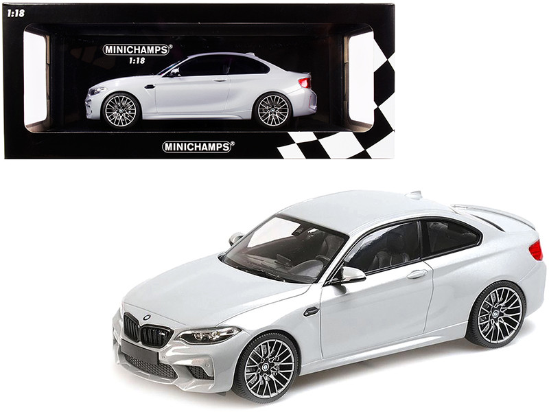 2019 BMW M2 Competition Silver Limited Edition 504 pieces Worldwide 1/18 Diecast Model Car Minichamps 155028005