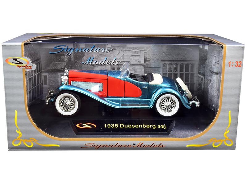 1935 Duesenberg SSJ Convertible Blue Red 1/32 Diecast Model Car Signature Models 32318