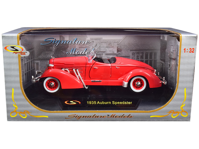 1935 Auburn Speedster Coral Red 1/32 Diecast Model Car Signature Models 32439