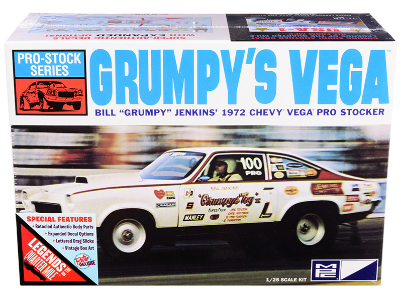 Skill 2 Model Kit 1972 Chevrolet Vega Pro Stock Bill Grumpy Jenkins Legends of the Quarter Mile 1/25 Scale Model MPC MPC877