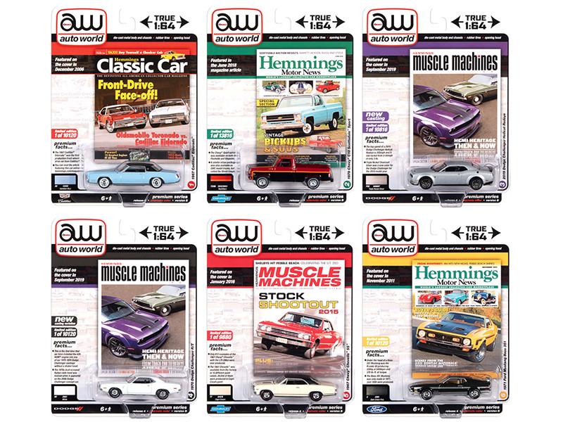Autoworld Premium 2020 Set B of 6 pieces Release 4 1/64 Diecast Model Cars Autoworld 64272 B