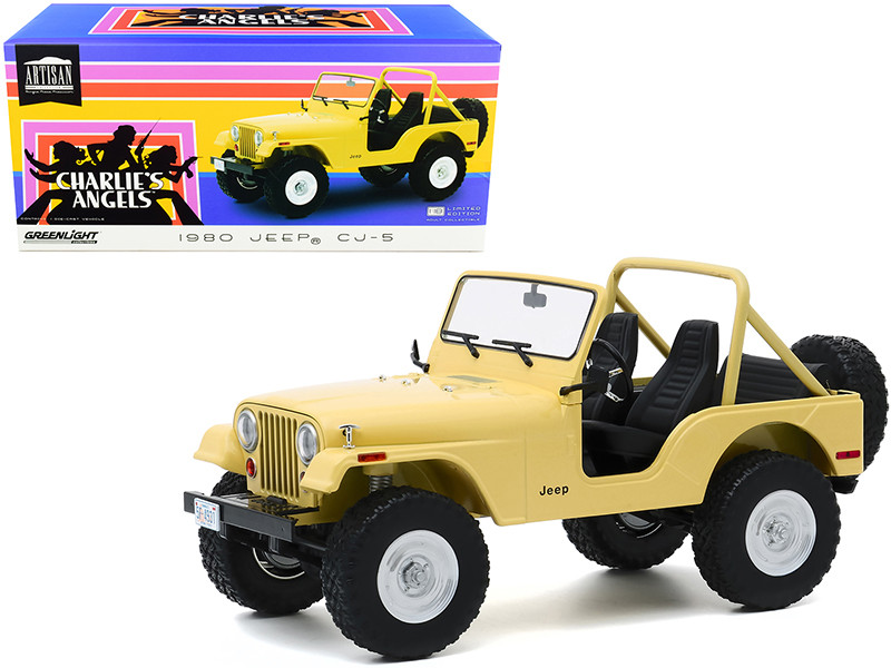 1980 Jeep CJ-5 Yellow Julie Roger's Charlie's Angels 1976 1981 TV Series 1/18 Diecast Model Car Greenlight 19078