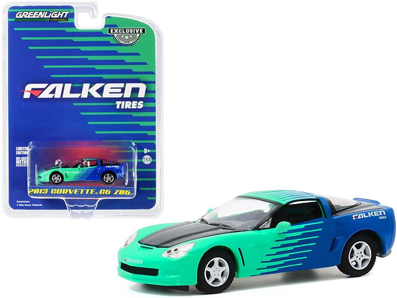 2013 Chevrolet Corvette C6 Z06 Falken Tires Hobby Exclusive 1/64 Diecast Model Car Greenlight 30176