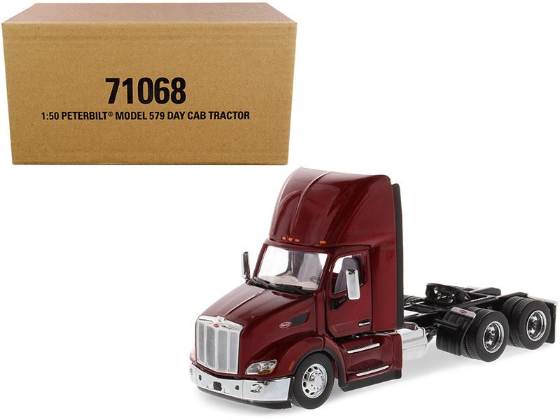 Peterbilt 579 Day Cab Truck Tractor Legendary Red Transport Series 1/50 Diecast Model Diecast Masters 71068