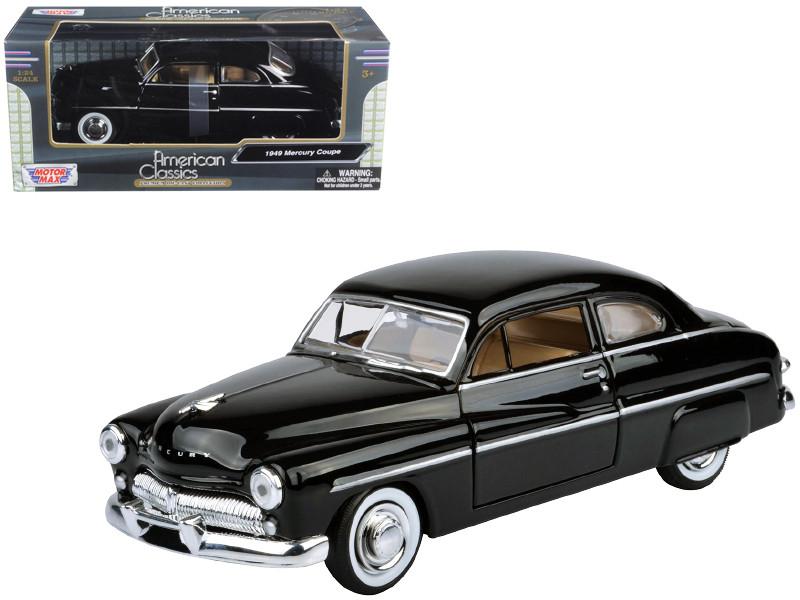 1949 Mercury Black 1/24 Diecast Model Car Motormax 73225