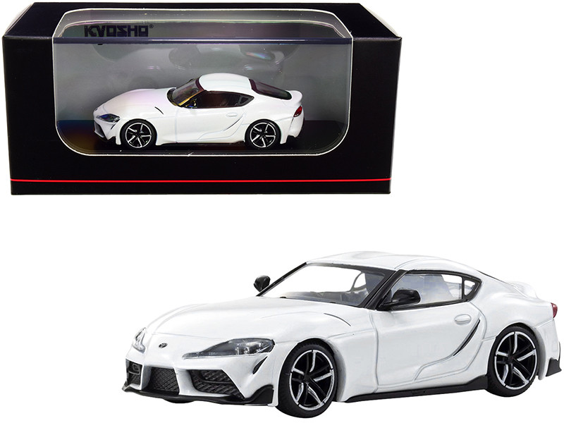 Toyota GR Supra RHD Right Hand Drive White 1/64 Diecast Model Car Kyosho KS07110W