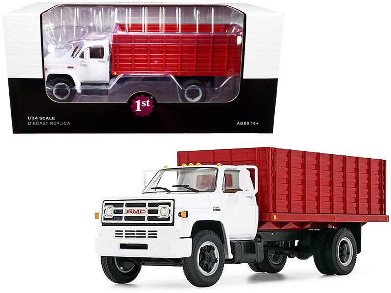 GMC 6500 Grain Truck White Red 1/34 Diecast Model First Gear 10-4216