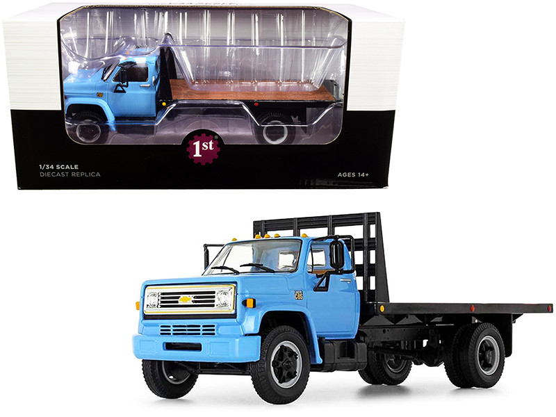 Chevrolet C65 Flatbed Truck Blue Black 1/34 Diecast Model First Gear 10-4217