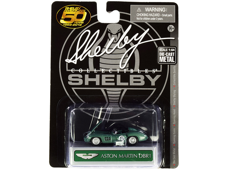 Aston Martin DBR1 #5 Green Metallic 1/64 Diecast Model Car Shelby Collectibles SC701