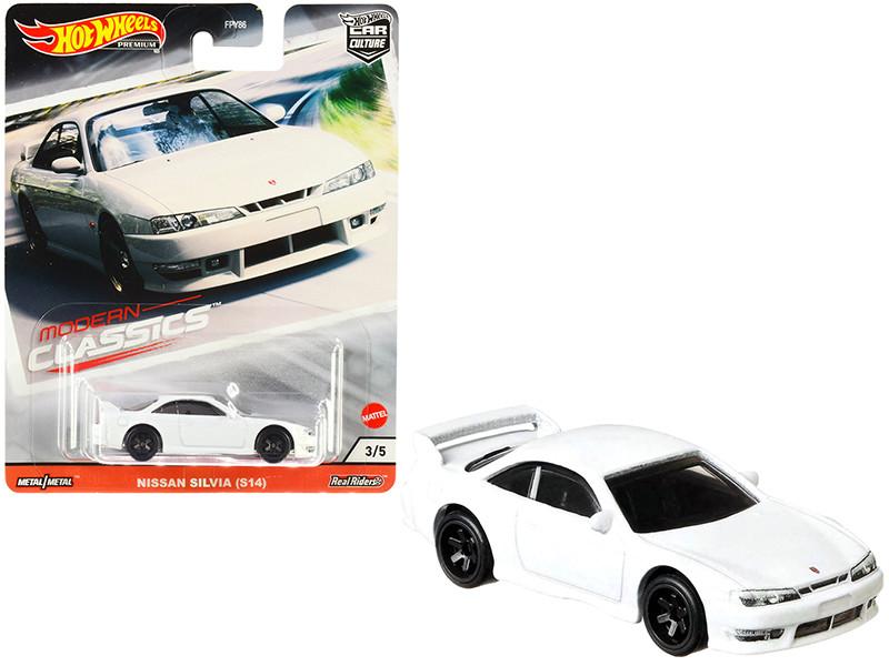 Nissan Silvia S14 White Modern Classics Diecast Model Car Hot Wheels GJP99