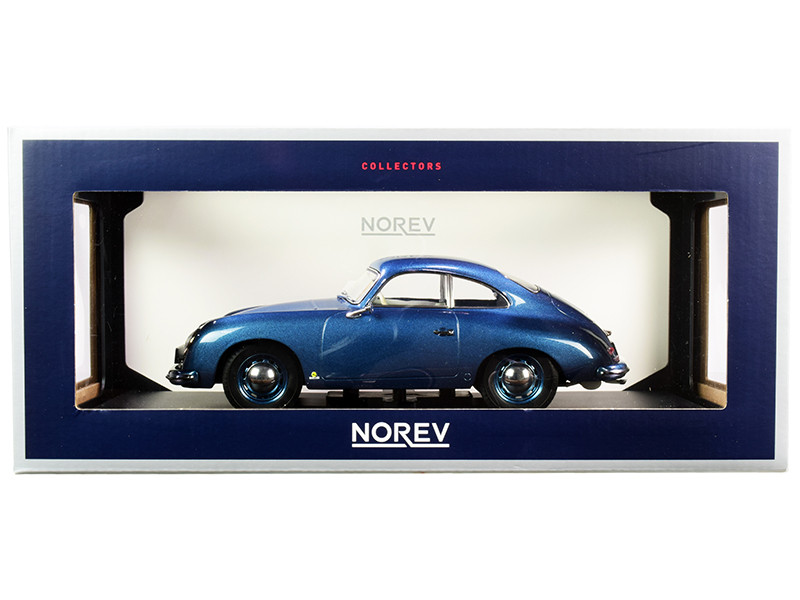 1954 Porsche 356 Coupe Blue Metallic 1/18 Diecast Model Car Norev 187450