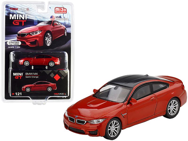 BMW M4 F82 Sakhir Orange Carbon Top Limited Edition 1200 pieces Worldwide 1/64 Diecast Model Car True Scale Miniatures MGT00121