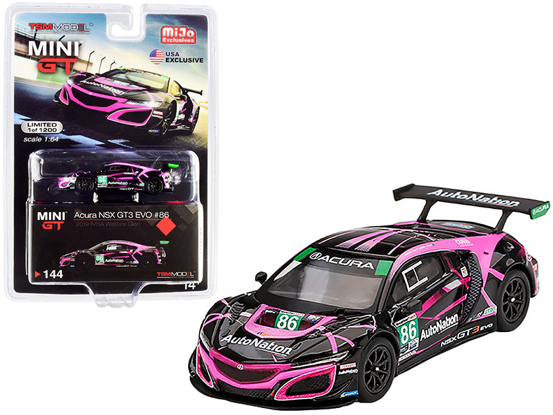 Acura NSX GT3 EVO #86 Auto Nation IMSA Watkins Glen Class Winner 2019 Limited Edition 1200 pieces Worldwide 1/64 Diecast Model Car True Scale Miniatures MGT00144