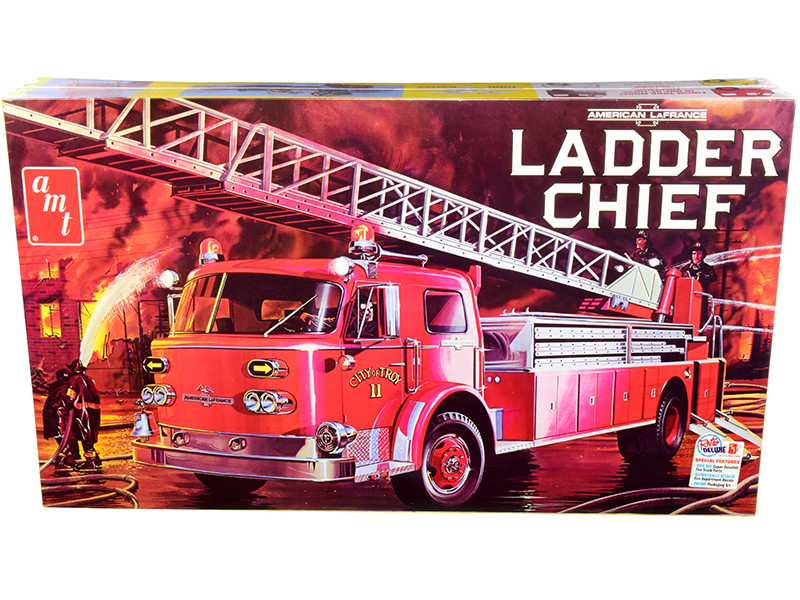 Skill 3 Model Kit American LaFrance Ladder Chief Fire Truck 1/25 Scale Model AMT AMT1204