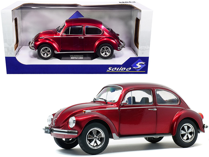 1974 Volkswagen Beetle 1303 Custom Red 1/18 Diecast Model Car Solido S1800512