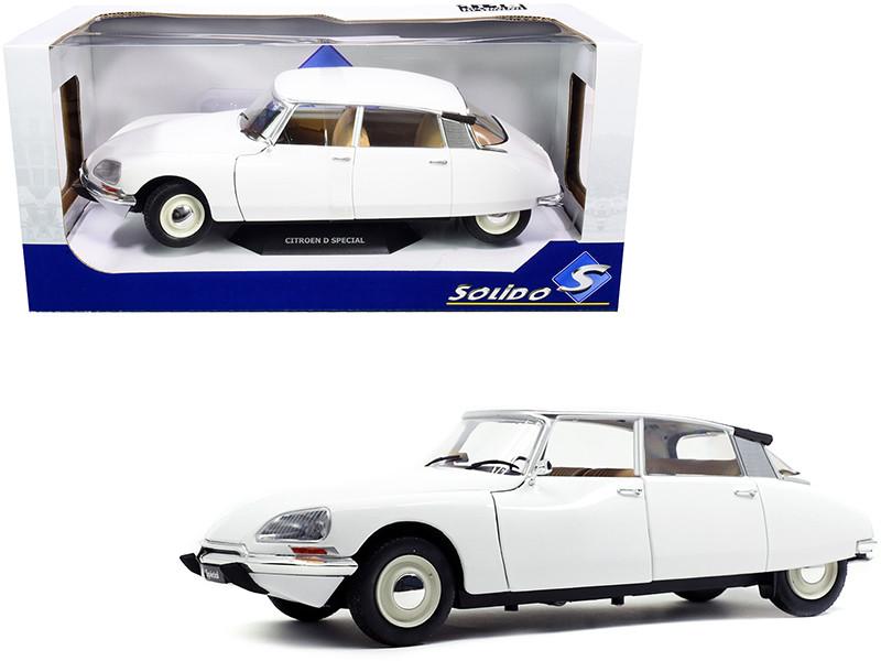 1972 Citroen D Special Blanche White 1/18 Diecast Model Car Solido S1800705