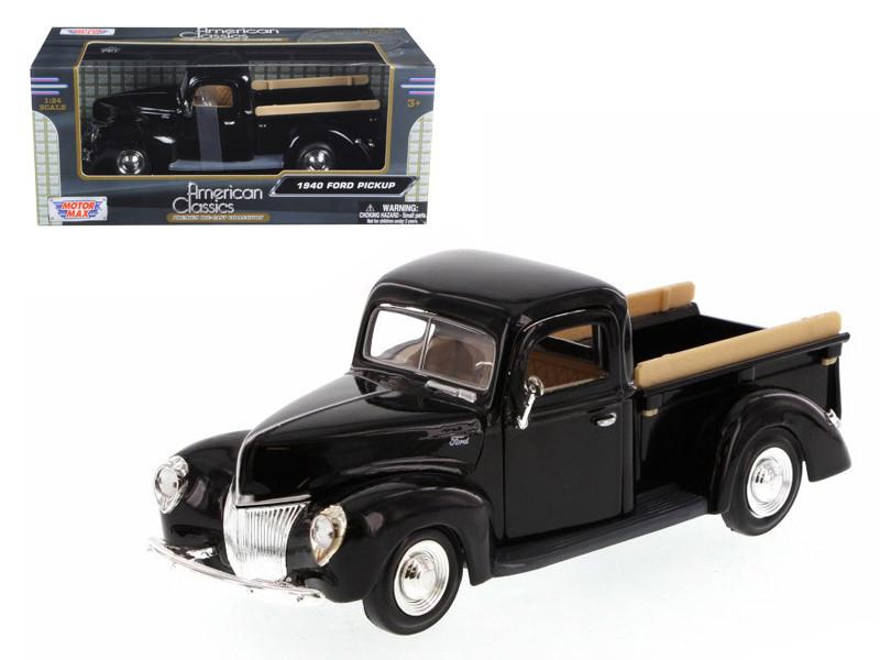 1940 Ford Pickup Black 1/24 Diecast Model Motormax 73234