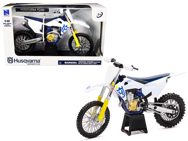 Husqvarna FC450 White Blue 1/12 Diecast Motorcycle Model New Ray 58153