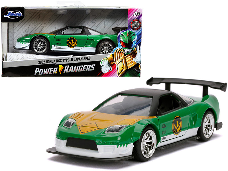 2002 Honda NSX Type-R Japan Spec Green Ranger Power Rangers 1/32 Diecast Model Car Jada 31843