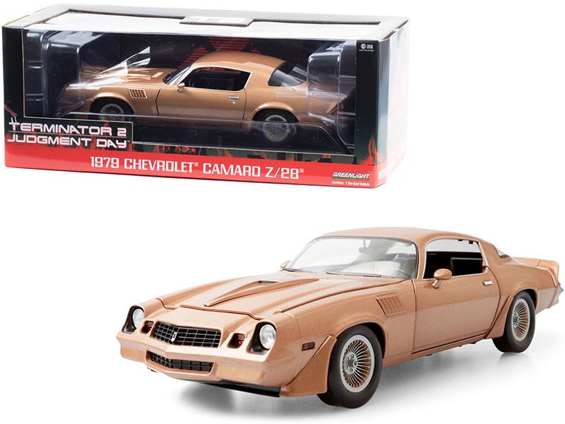 1979 Chevrolet Camaro Z/28 Gold Terminator 2 Judgment Day 1991 Movie 1/18 Diecast Model Car Greenlight 13573