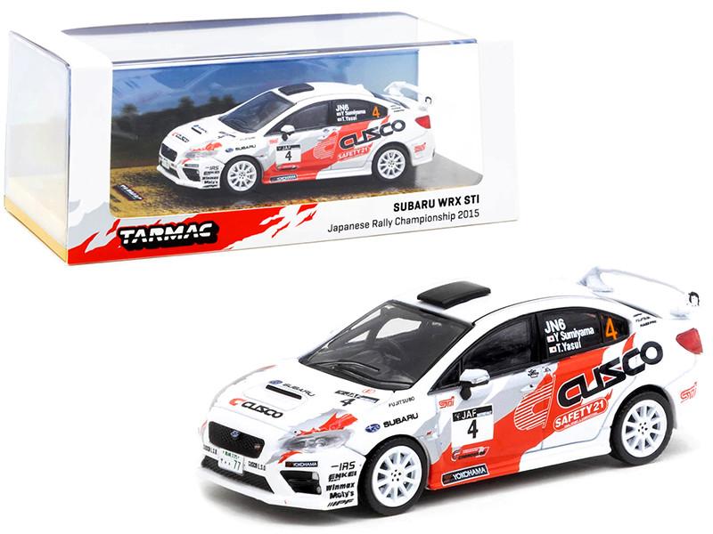 Subaru WRX STi #4 Sumiyama Yasui Japanese Rally Championship 2015 1/64 Diecast Model Car Tarmac Works T64-016-CU