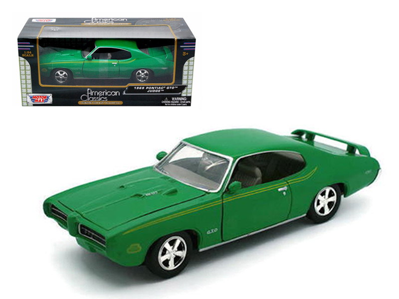 1969 Pontiac GTO Judge Green 1/24 Diecast Model Car Motormax 73242