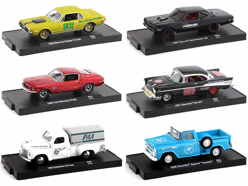 Drivers Set of 6 pieces in Blister Packs Release 68 Limited Edition 6750 pieces Worldwide 1/64 Diecast Model Cars M2 Machines 11228-68