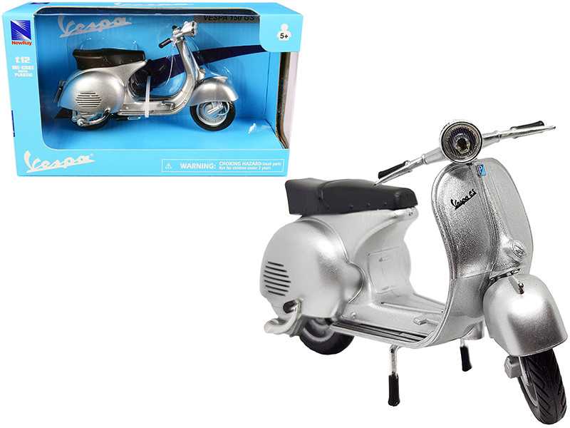 Vespa 150 GS Silver Metallic 1/12 Diecast Motorcycle Model New Ray 57863