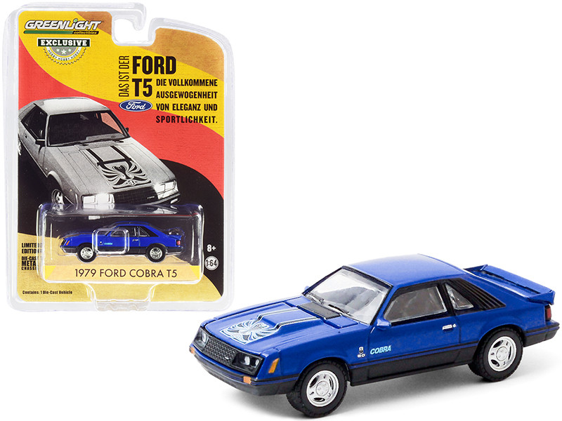 1979 Ford Cobra T5 Blue Glow Hobby Exclusive 1/64 Diecast Model Car Greenlight 30205