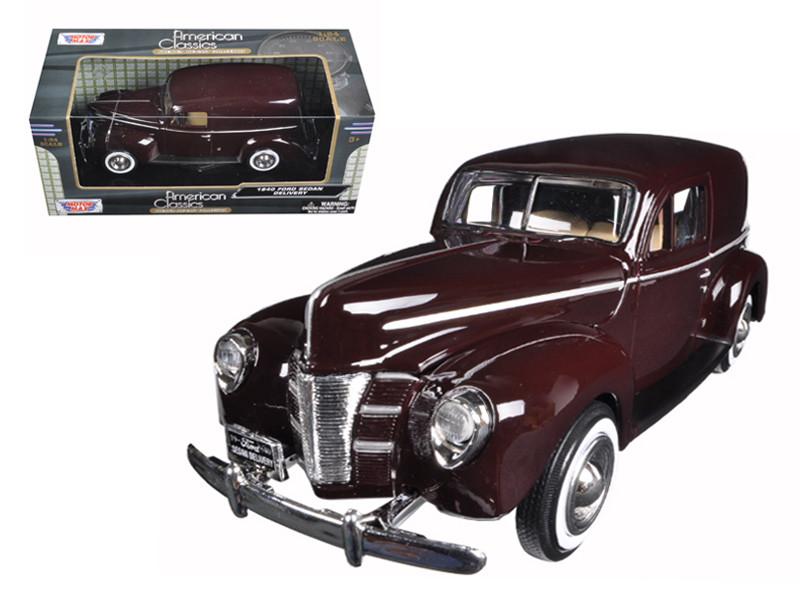 1940 Ford Sedan Delivery Brown 1/24 Diecast Model Car Motormax 73250