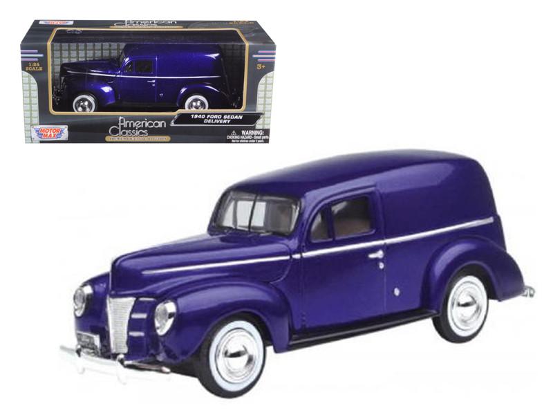 1940 Ford Sedan Delivery Purple 1/24 Diecast Car Model Motormax 73250