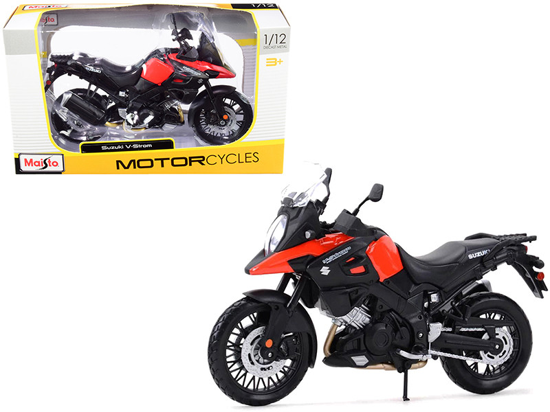 Suzuki V-Strom Red Black 1/12 Diecast Motorcycle Model Maisto 19130