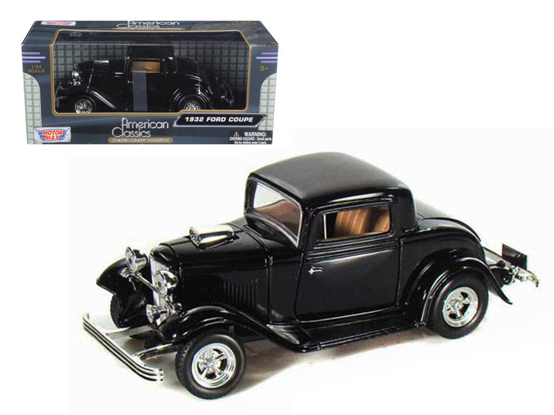 1932 Ford Coupe Black 1/24 Diecast Model Car Motormax 73251
