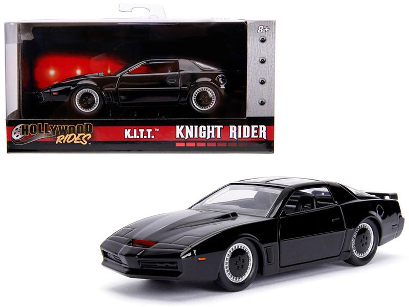 1982 Pontiac Firebird Trans Am Black KITT Knight Rider 1982 TV Series Hollywood Rides Series 1/32 Diecast Model Car Jada 99799