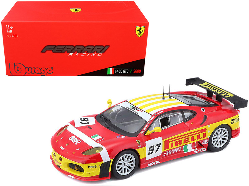Ferrari F430 GTC #97 Babini Malucelli Ruberti 24 Hours Le Mans 2008 1/43 Diecast Model Car Bburago 36303