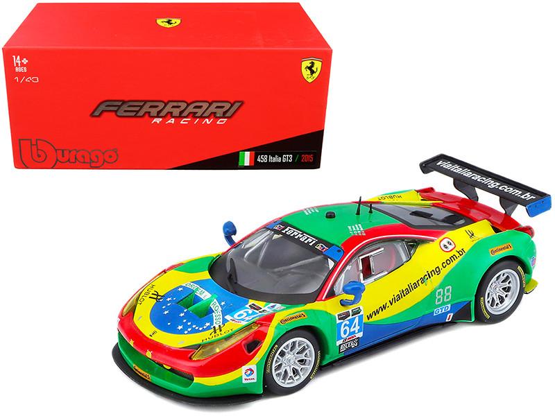 Ferrari 458 Italia GT3 #64 Bertolini Longo Serra Gomes 24 Hours Daytona 2015 1/43 Diecast Model Car Bburago 36305