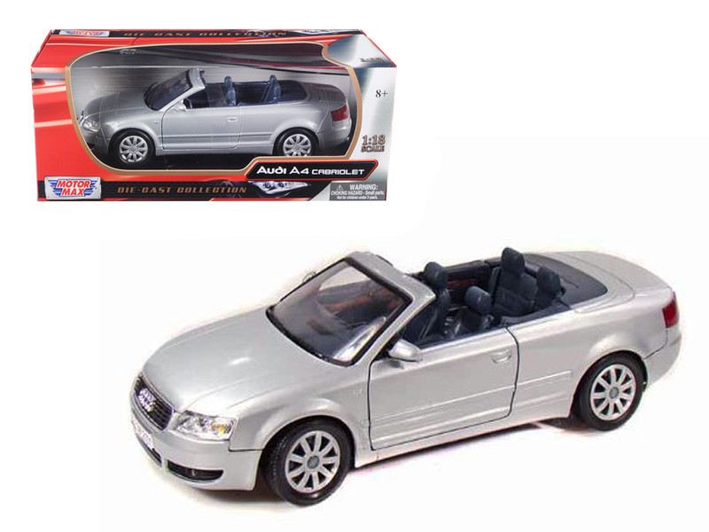 2004 Audi A4 Convertible Silver 1/18 Diecast Model Car Motormax 73148