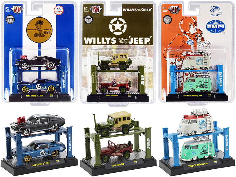 Auto Lifts Set of 6 pieces Series 19 Limited Edition 5480 pieces Worldwide 1/64 Diecast Model Cars M2 Machines 33000-19