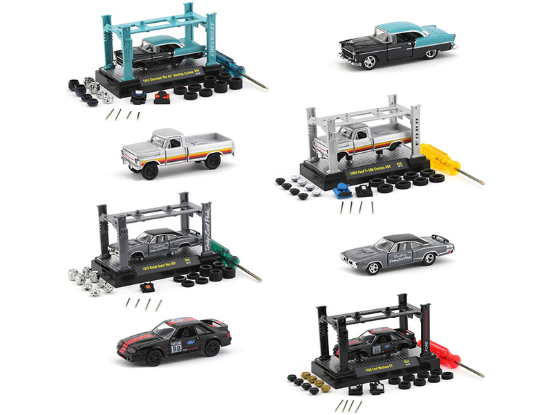 Model Kit 4 piece Car Set Release 34 Limited Edition 7500 pieces Worldwide 1/64 Diecast Model Cars M2 Machines 37000-34