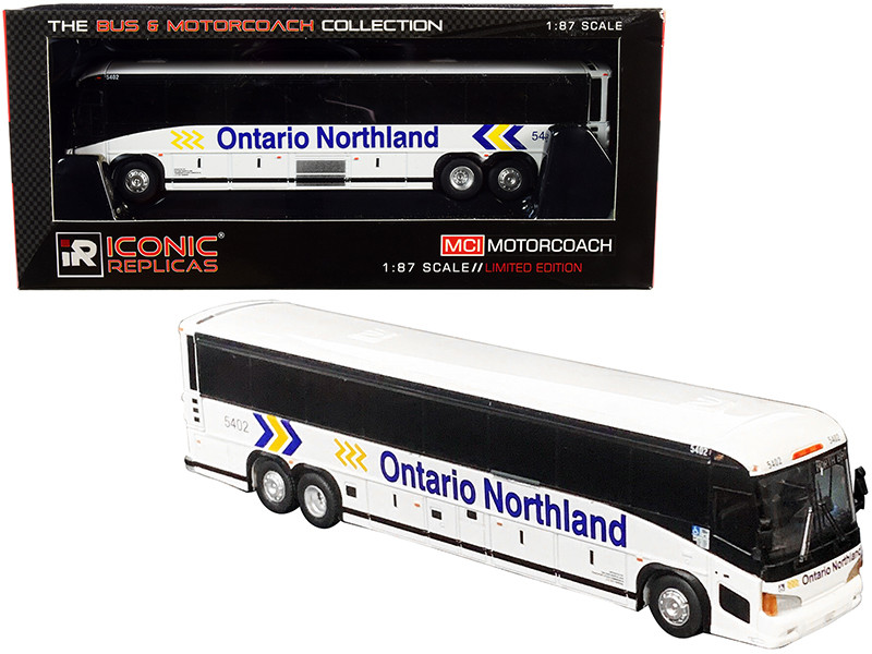 MCI D4505 Motorcoach Bus Ontario Northland White The Bus & Motorcoach Collection 1/87 HO Diecast Model Iconic Replicas 87-0223